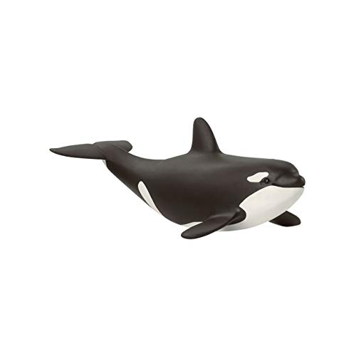 SCHLEICH 14836 Orka Junges Baby Orca Wild Life, Black