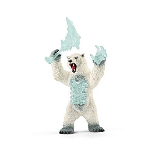 Schleich 42510 Eldrador Creatures Spielfigur - Blizzard Bär mit Waffe, Spielzeug ab 7 Jahren