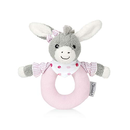 Sterntaler 3301838 Greifling Emmi Girl, Alter: 0-36 Monate, Größe: 16 cm, Farbe: Grau/Rosa