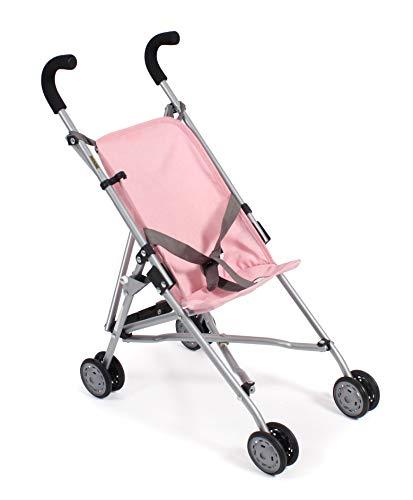 Bayer Chic 2000 601 15 Mini Roma, Puppenwagen, Puppen-Buggy, Melange grau-rosa