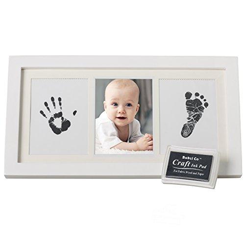 Baby Handabdruck Fußabdruck Lehm Fussabdruck Set für Neugeborene und Kleinkinder, Baby Geschenk Mädchen Personalisierte Andenken,Baby Kinderzimmer Dekor, Einzigartige Andenken