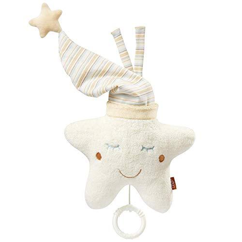 Fehn 154566 Spieluhr Stern – Aufzieh – Spieluhr mit herausnehmbarem Spielwerk zum Aufhängen – Melodie 'Weißt du wieviel Sternlein stehen' – für Babys und Kleinkinder ab 0+ Monaten