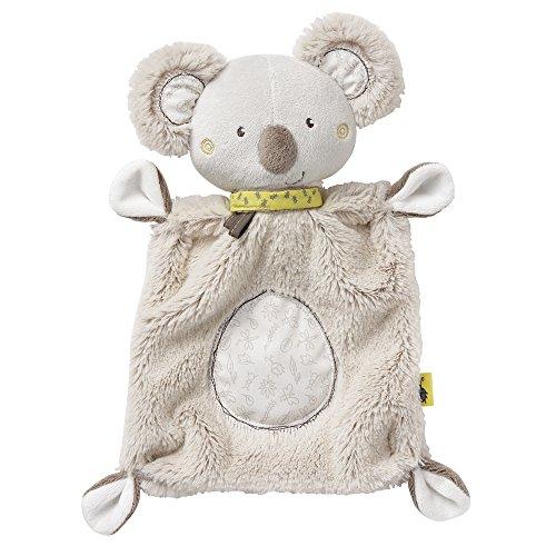 Fehn 064056 Schmusetuch Koala – Schnuffeltuch mit Koala-Köpfchen – Zum Kuscheln für Babys und Kleinkinder ab 0+ Monaten – Maße: 27 cm